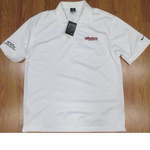 NEW! WITTENERG TIGERS NIKE GOLF FITDRY POLO SHIRT CREAM & DARK RED LARGE, L